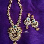 Matt Finish Peacock Necklace From Kruthika Jewellery