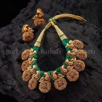 Beautiful Threadwork Necklace Set From Kushal Fashion Jewellery