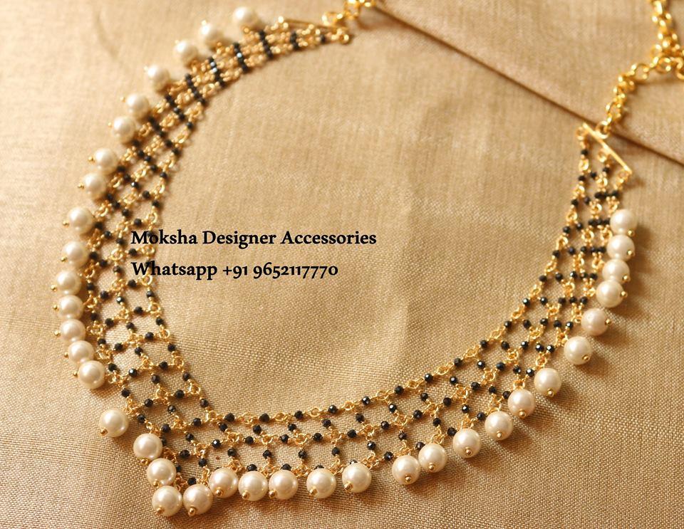 Beautiful Pearl Necklace From Moksha