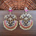 Big Cutwork Kundan Chandbalis From Kruthika Jewllery