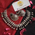 Cute Silver kolhapuri Necklace From Quills & Spills