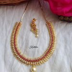 Gold Like AD Mango Choker From Kruthika Jewellery
