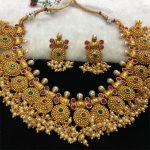 Matt Finish Necklace Set From Kirthi Fashions