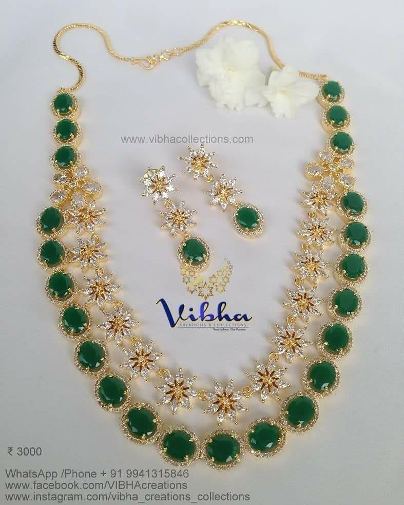 Shiny Two Layer Haram From Vibha Creations