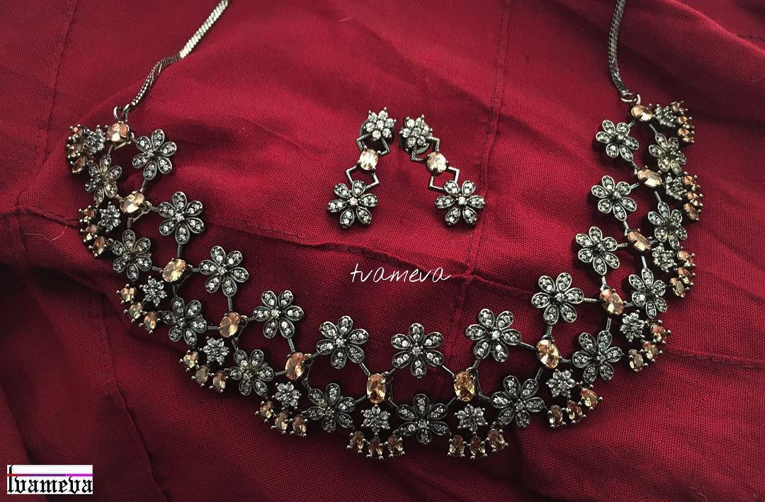Stunning Stone Necklace Set From Tvameva
