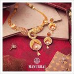 Stylish Gold Necklace From Manubhai Jewellers
