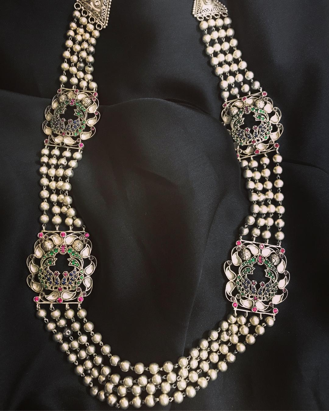 Stylish Kundan Beads Necklace From Rajatmaya