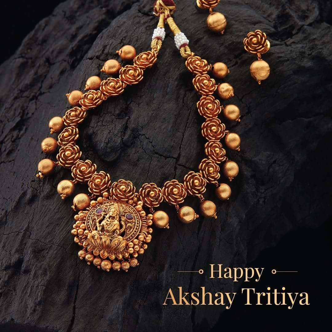 Temple Necklace From Kushal Fashion jewellery