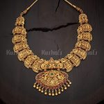 Tradtional Temple Mango Necklace From Kushal Fashion Jewellery