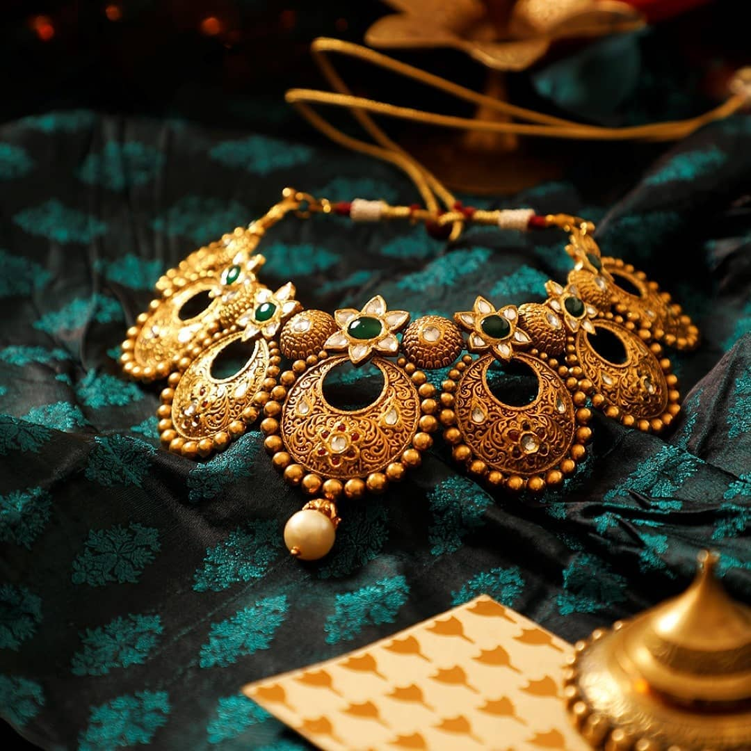 Beautiful Gold Necklace From Manubhai Jewellers