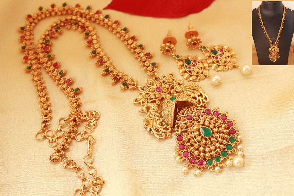 Beautiful Long Necklace Set From Magha Store