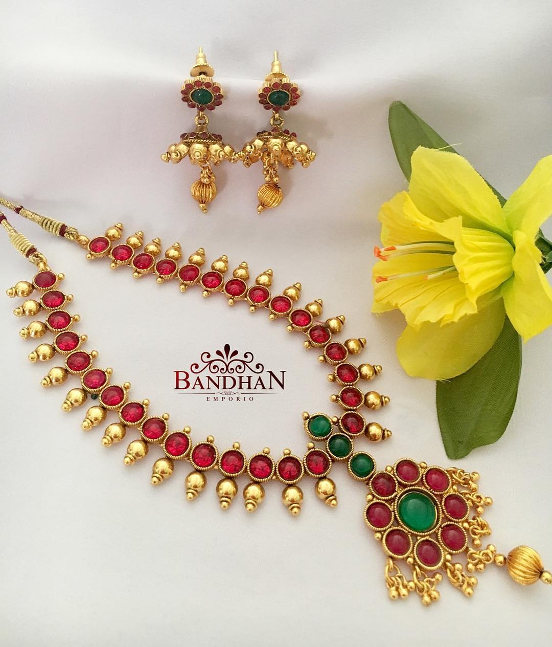 Irresistible Ruby necklace From Bandhan