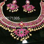 Kundan Handmade Silver Necklace From Sashti Silver