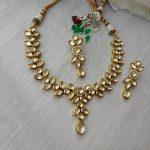 Kundan Leaf Drop Necklace Set From Rimli Boutique