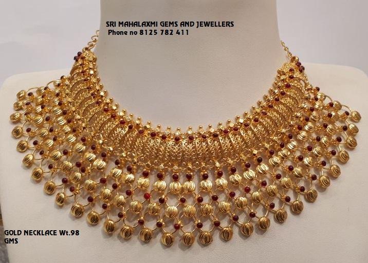 Stuuning Gold Choker From Mahalakshmi Jewellers