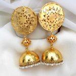 Beautiful Brass Filigree Jhumkis From Aatman India
