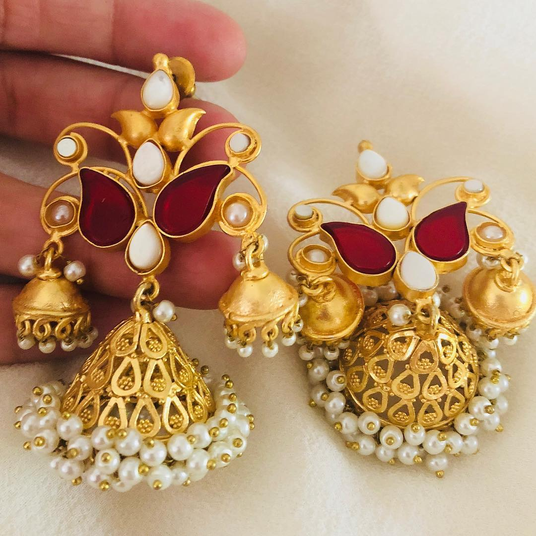 Gorgeous Brass Jhumka From Aatman India
