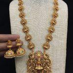 Matte Lakshmi Haram Set From Kruthika Jewellery