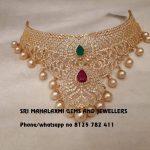 Precious Diamond Choker From Mahalakshmi Gems And Jewellers