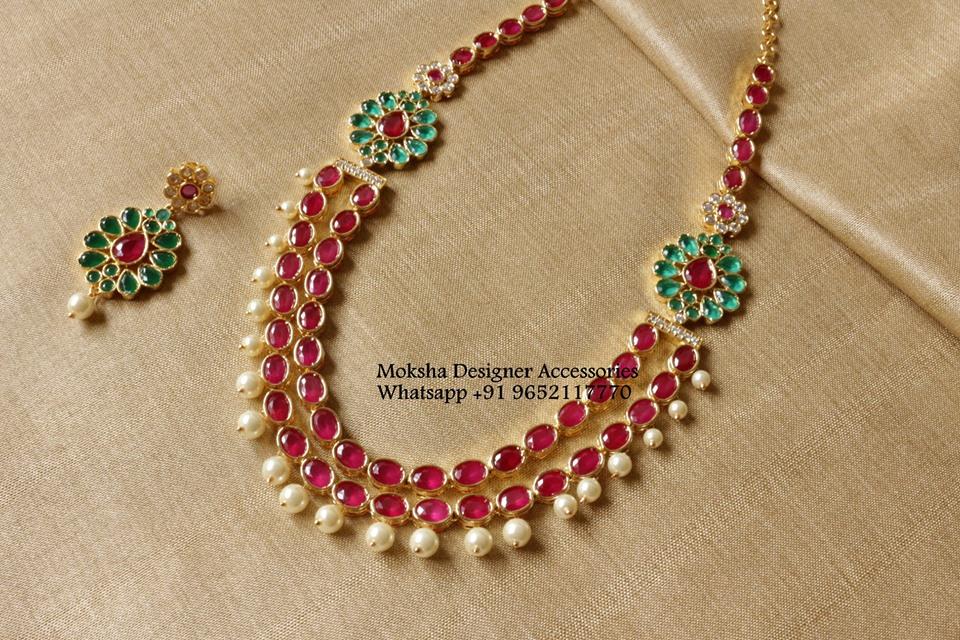 Pretty Multilayered Necklace From Moksha Designer Accessories