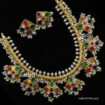 Cute Silver Necklace Set From Silver Sashti