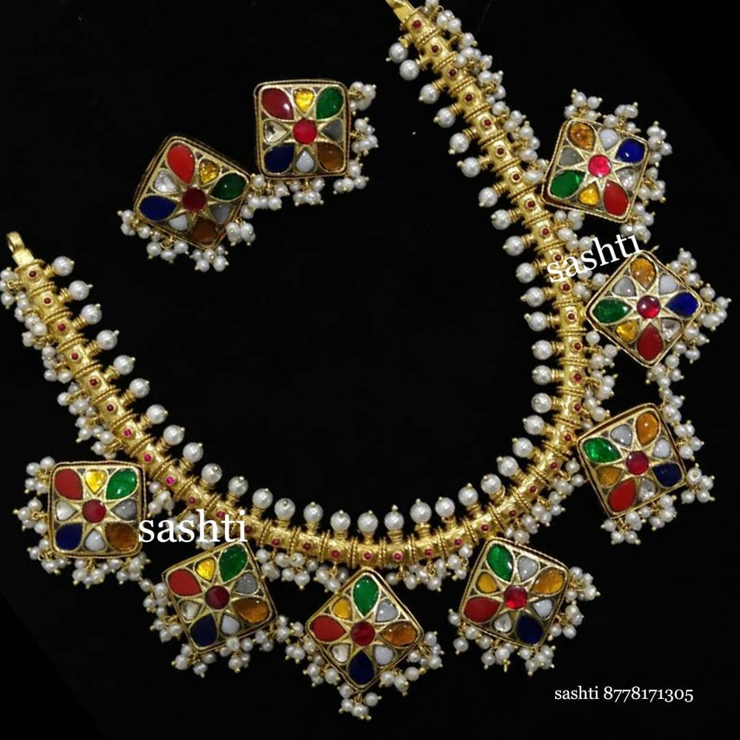 Cute Silver Necklace Set From Silver Sashti