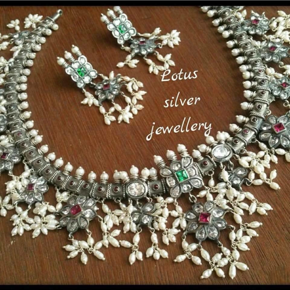 Decorative Silver Necklace From Gold Lotus Silver Jewellery