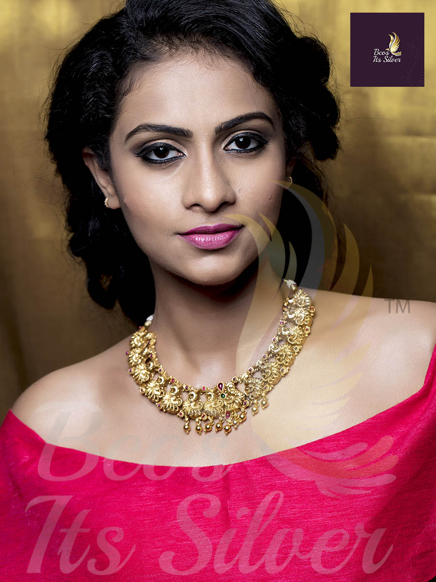 Lovely Gold Plated Silver Necklace From Bcos Its Silver