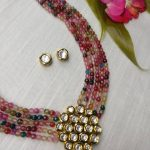 Multicoulour Beads With Kundan Pendant From Rimli Boutique