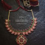 Semi Precious Kemp Necklace From Aabharanam