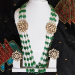 Classic Green Beads Necklace From Rajatamaya