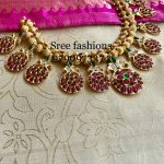 Cute Stone Necklace From Sree Exotic Silver Jewelleries