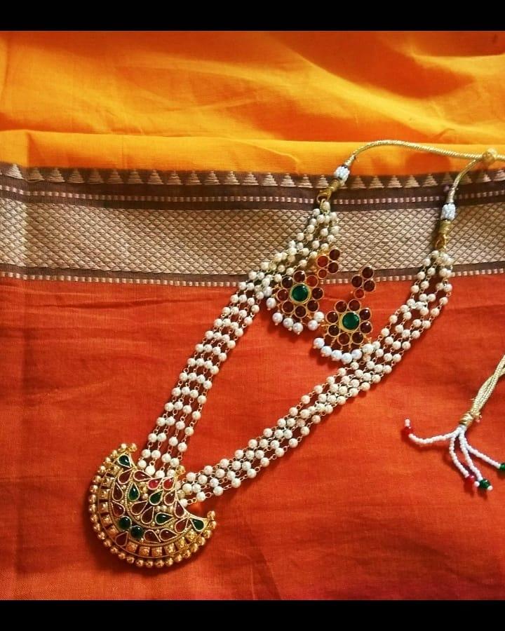 Ethnic Beaded Long Necklace from Jaya's Handiwork