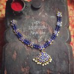 Royal Blue Necklace From Abharanam