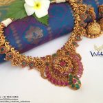 Royal Matt Finish Antique Necklace Set From Vibha Creations
