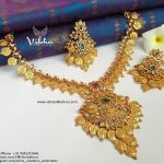 Stunning Lakshmi Coin Matt Naklace From Vibha Creations