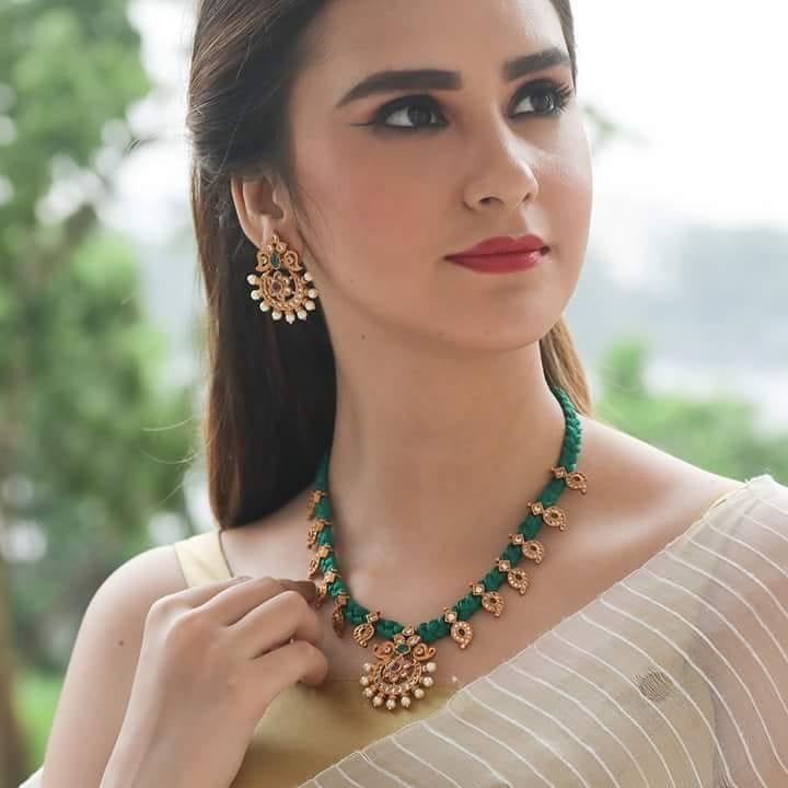 Elegant Dori Style Rukm Necklace Set From Tarinika