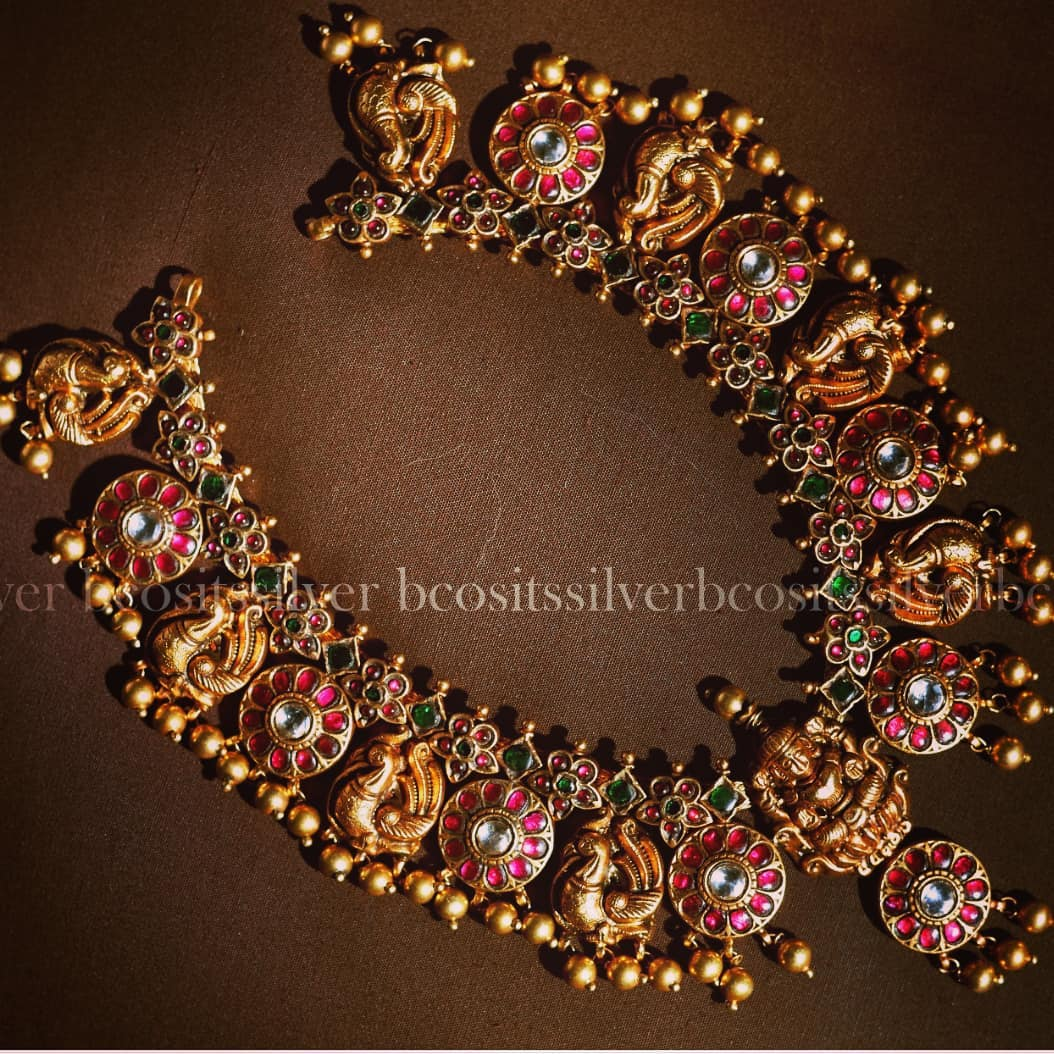 Grand Gold Plated Silver Necklace FromBcos Its Silver