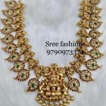 Traditional Temple Necklace From Sree Exotic Silver Jewelleries