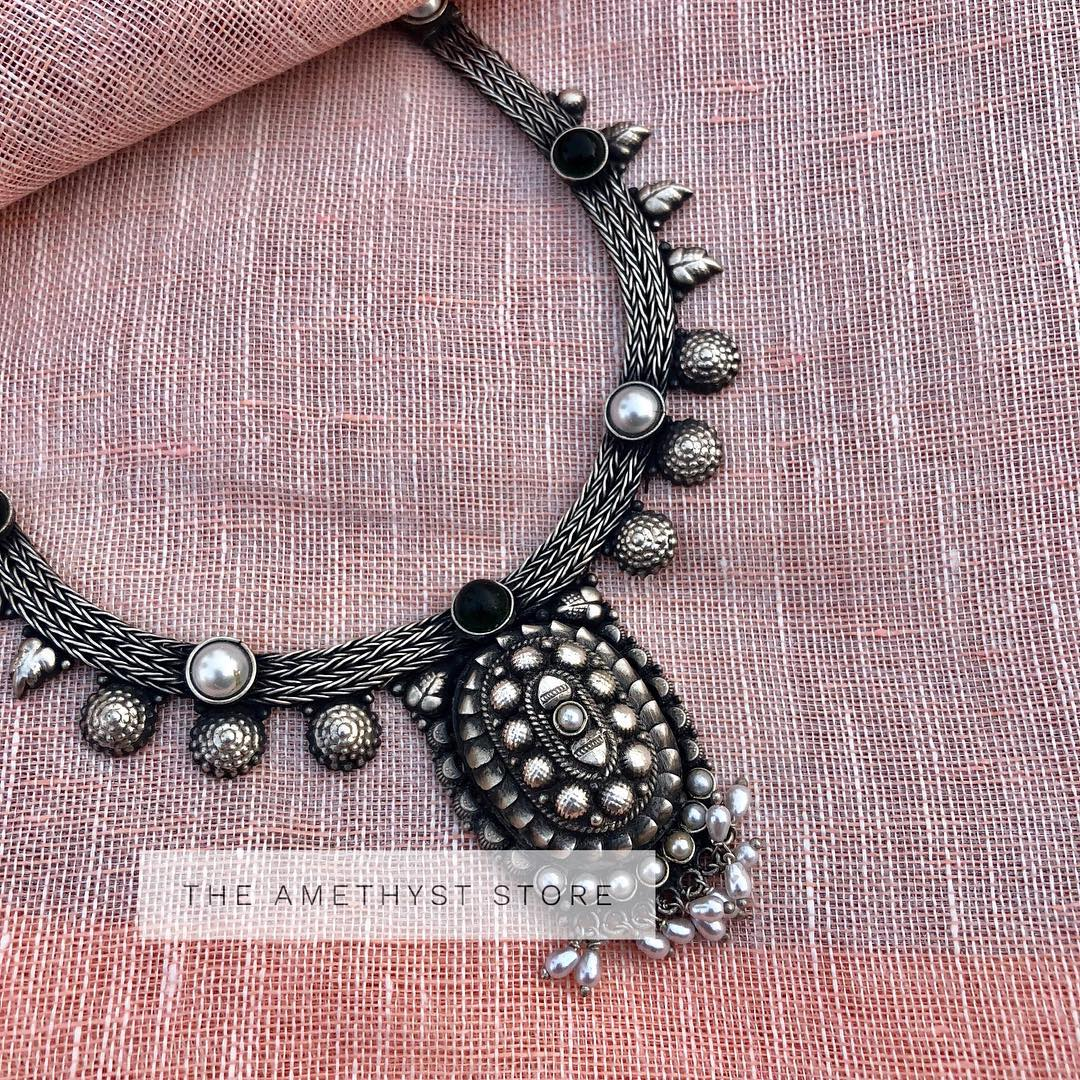 Trendy Silver Necklace from The Amethyst store