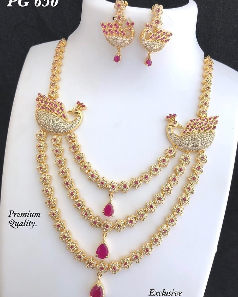 Attractive Necklace Set From Abhi's Jewel Hunt