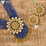 BSA Beads And Kundan Locket Set From Vaibhav Jewellers