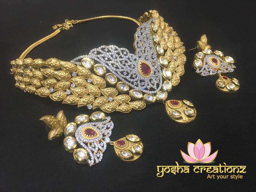 Beautiful Bridal Choker Yosha Creationz