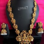Classic Temple Long Necklace From Aarvee Chennai