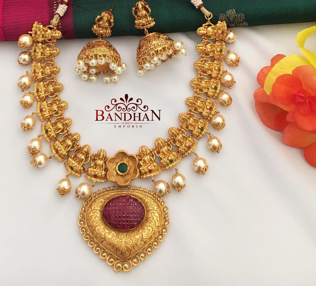 Classic Temple Necklace From Bandhan