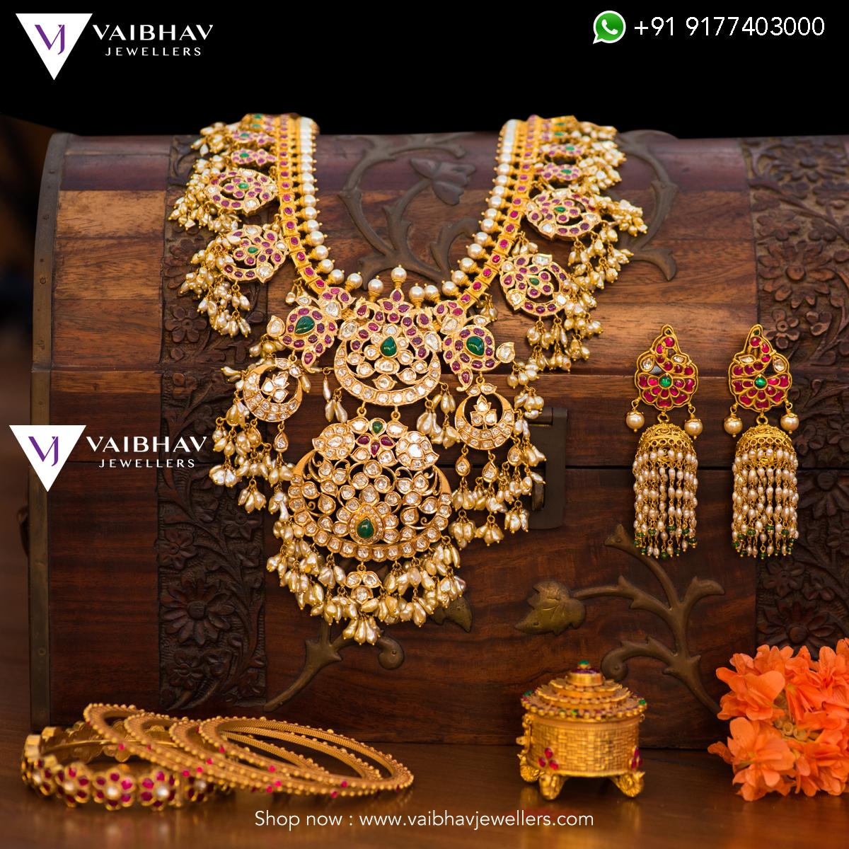 Decorative Diamond Mango Haram From Vaibhav Jewellers