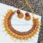 Intricate Designed Neckpiece From Studs And Drops