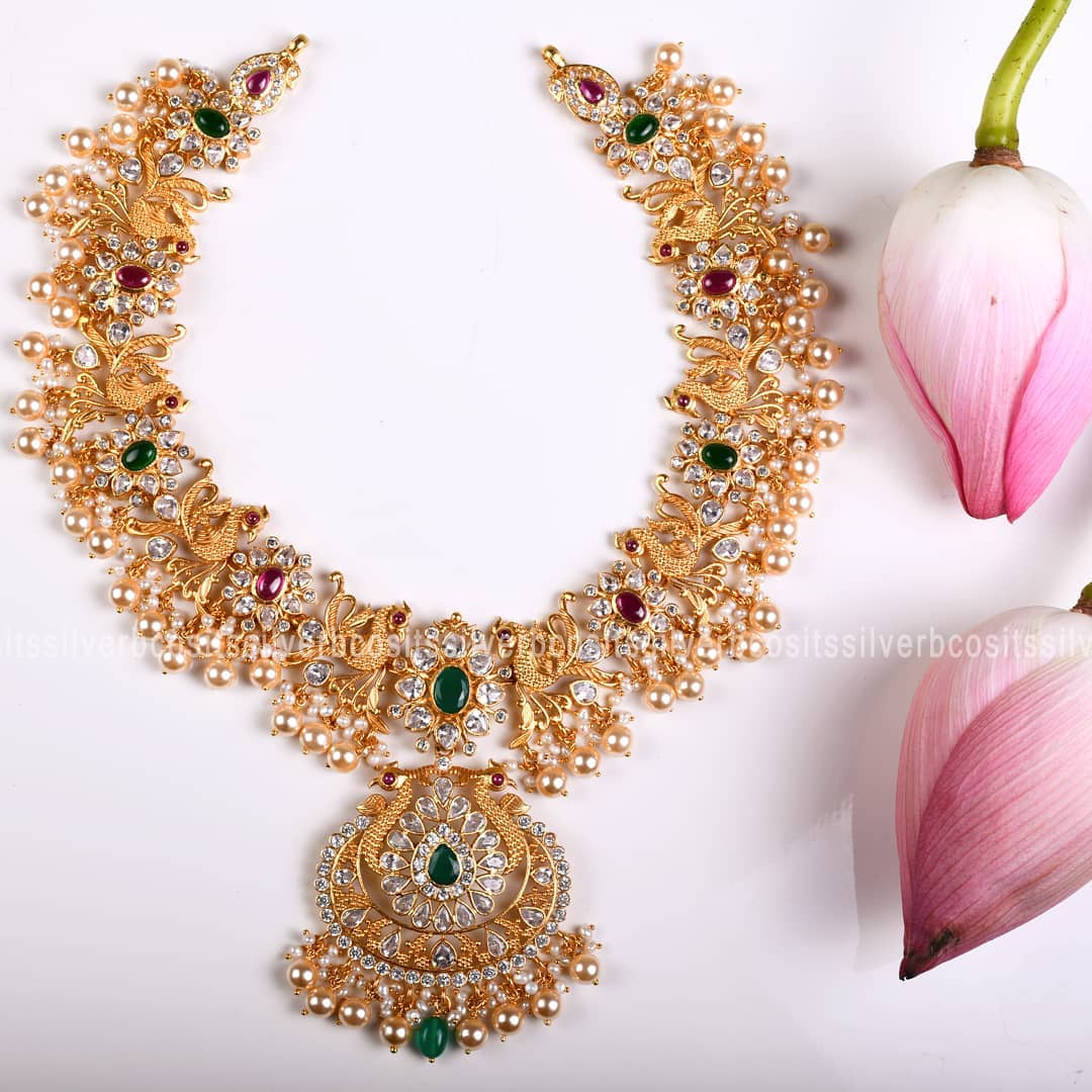 Pure Gold Plated Silver Necklace From Bcos Its Silver