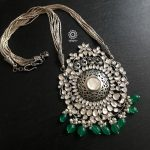 Stunning Kundan Neckpiece With Green Beads From Aham
