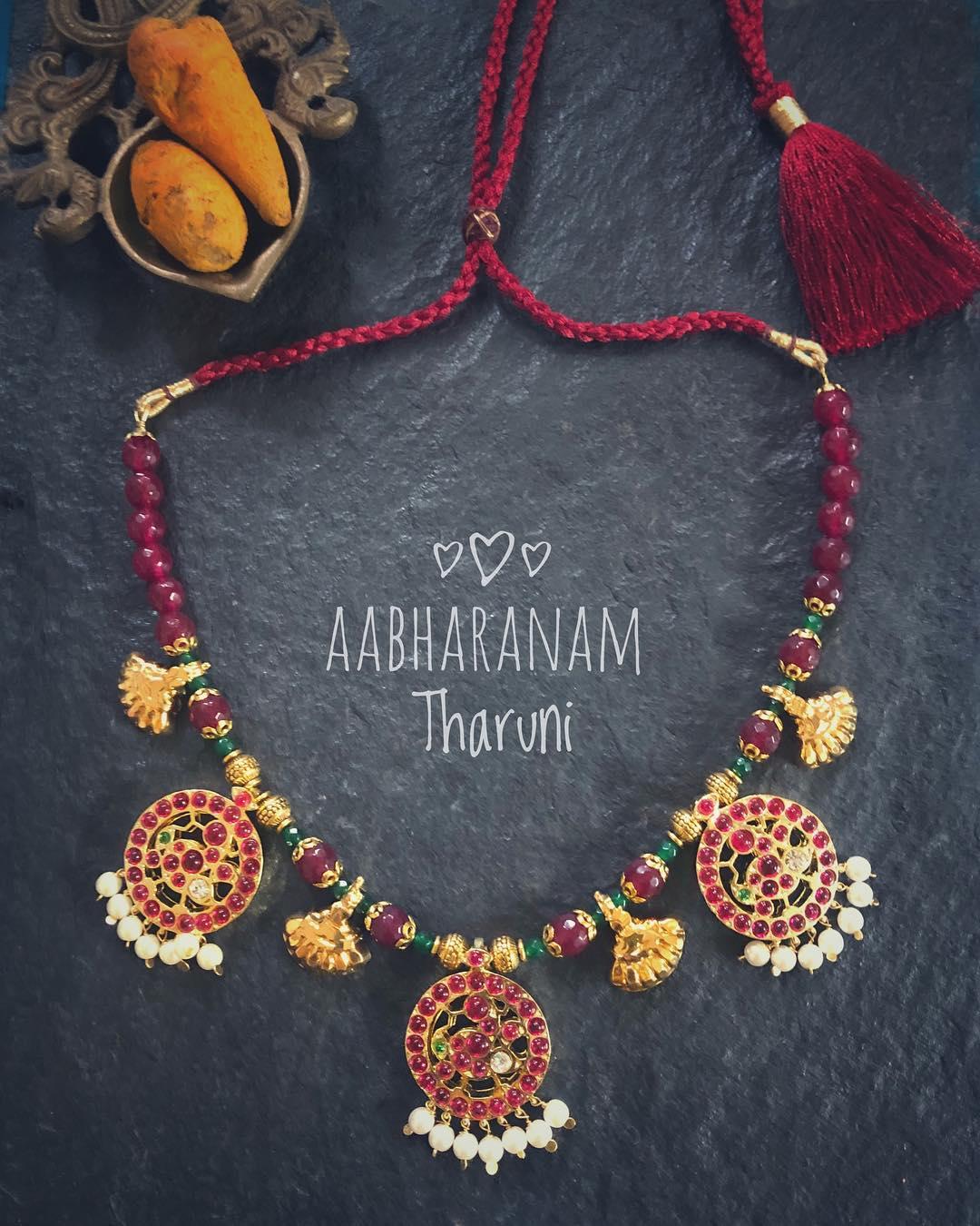 Beautiful Beaded Necklace From Abharanam
